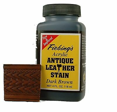Acrylic Antique Leather Stain Dark Brown 4 oz 2607-13 by Fiebing's