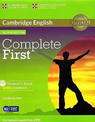 COMPLETE FIRST 2nd Edit STUDENT BOOK w Answers & CD-ROM for Exam from 2015 @NEW@