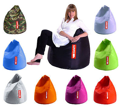 Hippo Large Pod Bean Bag Water Resistant Beanbag Gamer Adult Outdoor Chair