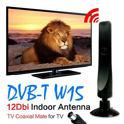Black 12dBi Aerial Antenna For DVB-T TV HDTV Digital Freeview 2217707
