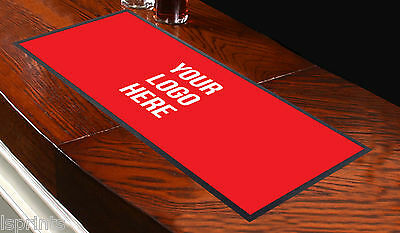 Customised Bar Runner Any Logo Red Ideal For Home Cocktail Party Pub Bar Mat