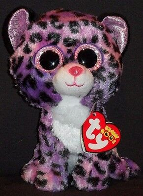 "TY BEANIE BOOS - JEWEL the 6"" LEOPARD - MINT with MINT TAG - JUSTICE EXCLUSIVE"