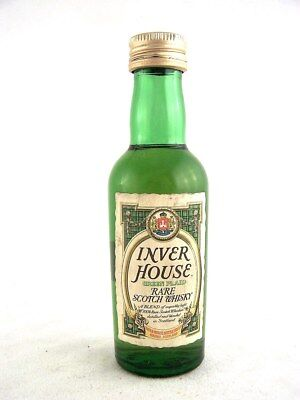 Miniature circa 1975 INVER HOUSE GREEN PLAID Scotch Whisky Isle of Wine