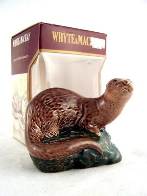 Miniature circa 1982 WHYTE & MACKAY OTTER Ceramic Whisky Isle of Wine