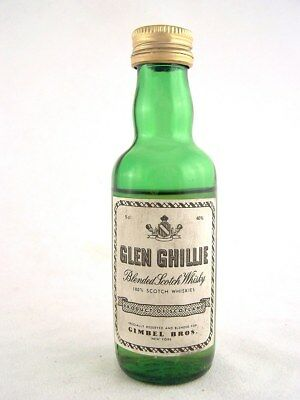Miniature circa 1976 GLEN GHILLIE Scotch Whisky Isle of Wine