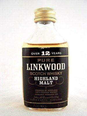 Miniature circa 1976 LINKWOOD 12YO Malt Whisky Isle of Wine