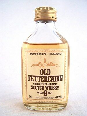 Miniature circa 1982 OLD FETTERCAIRN 8YO Malt Whisky Isle of Wine