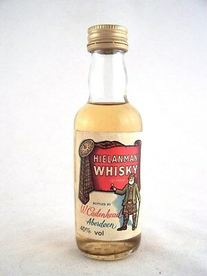 Miniature circa 1975 HIELANMAN Scotch Whisky Isle of Wine