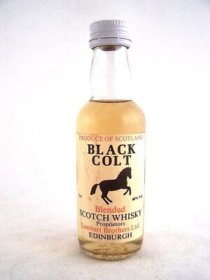Miniature circa 1979 BLACK COLT Scotch Whisky Isle of Wine