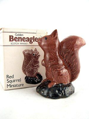Miniature circa 1981 BENEAGLES RED SQUIRREL Ceramic Whisky Isle of Wine