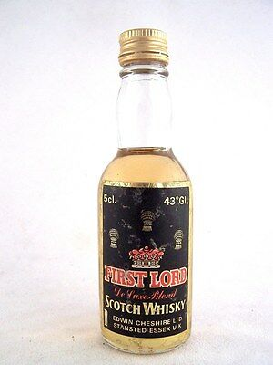 Miniature circa 1975 FIRST LORD Scotch Whisky Isle of Wine