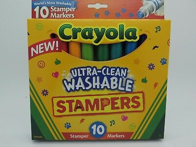 Crayola Ultra Clean Washable Stampers Markers 10Pk  58 8148