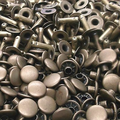 100 Pack of Antique Brass Medium Rapid Rivets 1273-15 by Stecksstore