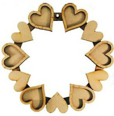 Creative Expressions MDF HEART WREATH Diameter 24cm SELF ASSEMBLY CEMDFHEARTWR