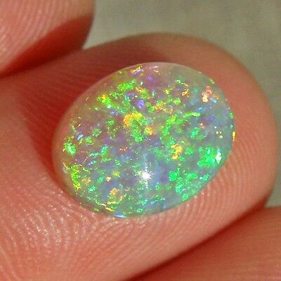 Crystal opal Lightning Ridge Australia green multicolor top quality 3.61 carats