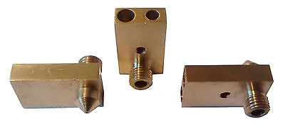 3D Printer Brass Nozzle Block - 0.2mm 0.3mm 0.4mm 0.5mm 0.6mm - Fits Ultimaker 2
