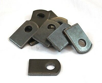 "Weld On Steel Flat Tab Brackets 1"" x 1 1/2"" x 1/8"" Lot of 12 Brackets"