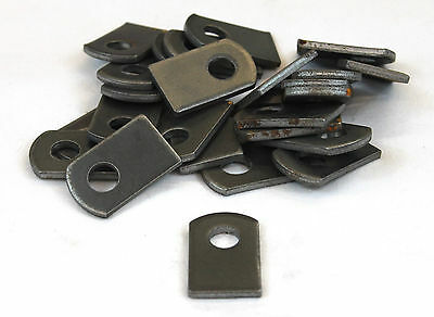 "Weld On Steel Flat Tab Brackets 1"" x 1 1/2"" x 1/8"" Lot of 25 Brackets"