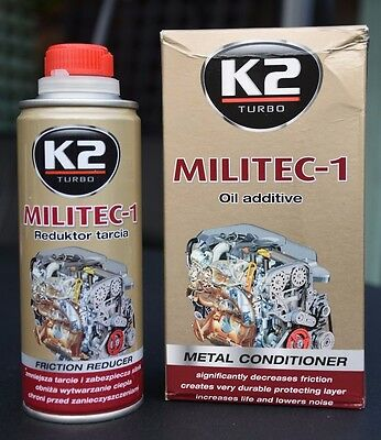 MILITEC 1 METAL CONDITONER 250ml BRAND K2 100% synthetic OIL ADDITIVE
