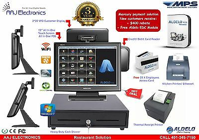"""ALDELO 15"""" Touch Screen All in one POS System, Restaurant/ PRO Edition"""