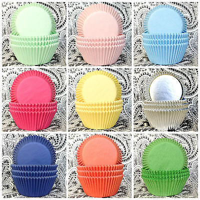 Solid Color Cupcake Liners FAST SHIP Mint Green Blue Pink Red Muffin Baking Cups