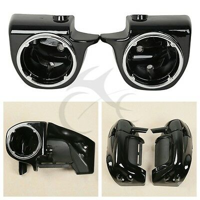"Lower Vented Leg Fairing 6.5"" Speaker Box Pod For Harley Touring FL Street Glide"