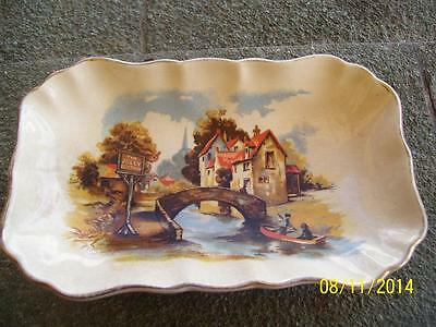 Pretty Vintage Lancaster & Sandland The Jolly Boatman Pin  Or Butter Dish