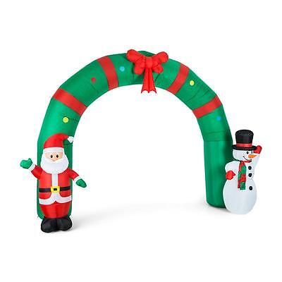 Merry Santa Christmas Self Inflatable Decoration Gate Garden Yard Outdoor 250 Cm