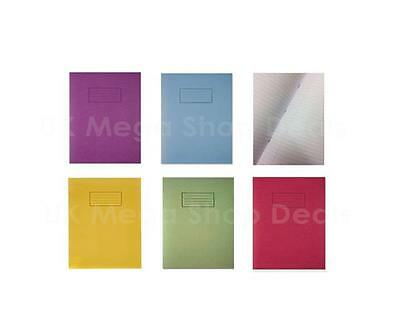 Exercise Book for School Ruled and Margin A5 Silvine Blue Red Green Yellow