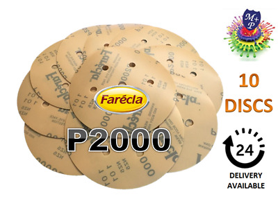 "FARECLA P2000 film abrasive discs GRIP 150mm Pack (10) 6"" Sanding"