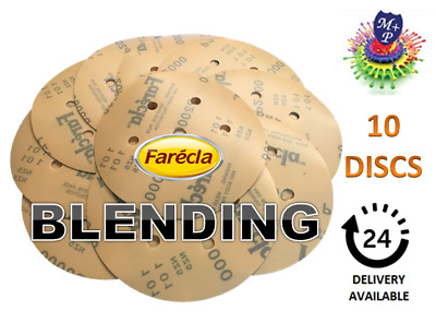 "FARECLA P1200 film abrasive discs GRIP 150mm Pack (10) 6"" Sanding"