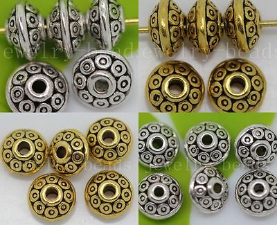 New 30//100//500pcs Antique Silver Beads Jewelry Charms Spacer Beads DIY 7x4mm
