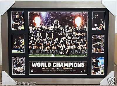All Blacks 2015 Rugby World Cup Champions L/e Print Framed New Zealand Xmas Gift