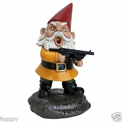 Angry Little Garden Gnome by BigMouth Inc Garden or Indoor Gift  NEW