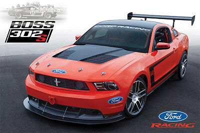 RARE & NEW! 2012 Ford Mustang BOSS 302 S Dealer Brochure Card
