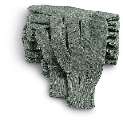 Army Military Surplus New Pair of 3 Finger Winter Shooting Glove Liners Unissued