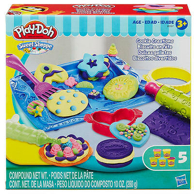 New Hasbro Play-Doh  Cookie Creations 5 Cans B0307 Playdoh