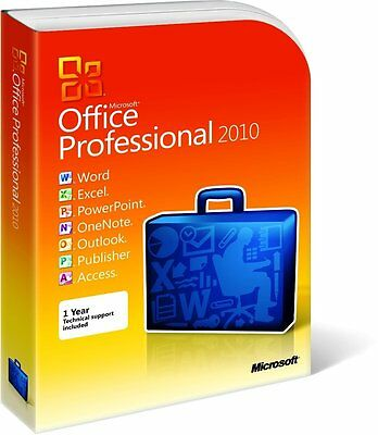 Office Professional 2010 [32 et 64 Bit] - Licence 3 PC (DVD-Rom) - [version FR]