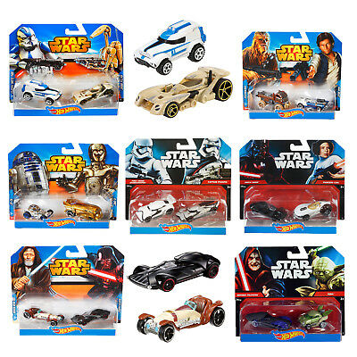 Hot Wheels Official Star Wars Character Cars 2 Pack Collectible Toy Vehicle Set