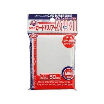 Kmc 50 Small Size Yugioh Card Barrier Sleeves Deck Protectors - Mini Pearl White