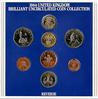 1984 UK Uncirculated coin Year set BU 8-coin Royal Mint pack