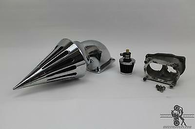 03-09 Honda Vtx1800 Aftermarket Chrome Spike  Air Intake & Crankcase Breather