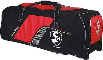 "New Sg Cricket Kit Bag Maxipak (With Wheels) 40X13X13""very Comfortable Free Ship"