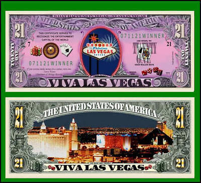 15 Factory Fresh Novelty Las Vegas 21 Dollar Bills