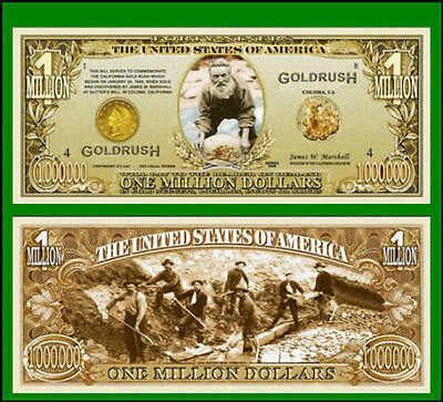 15 Factory Fresh Novelty 49er's Gold Rush Million Dollar Bills