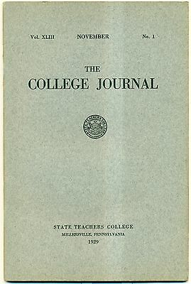 """1929 Millersville,PA State Teachers College """"The College Journal"""""""