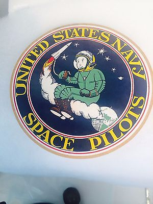 SPACE PILOT US NAVY PRE Astronaut NASA 1962  Vintage Sticker DECAL.  RARE   LQQK