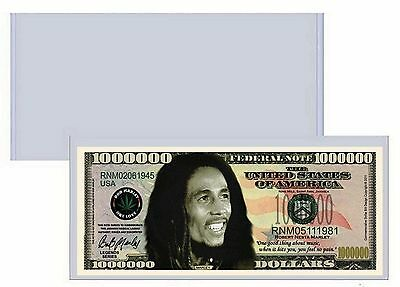 Bob Marley Million Dollar Bill w/ Clear Protector - New - Factory Fresh