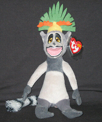 TY KING JULIEN the LEMUR MADAGASCAR BEANIE BABY - MINT with MINT TAG