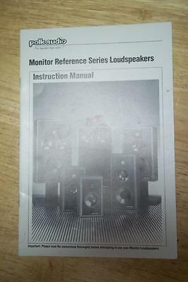 Owner / User Manual for Polk Audio Monitor Reference Series Speakers 10B 7C 11 +